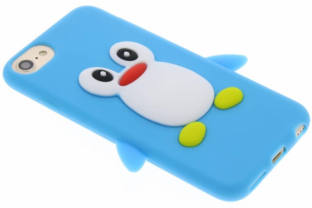Blauw pinguin siliconen hoesje voor de iPhone 8 / 7