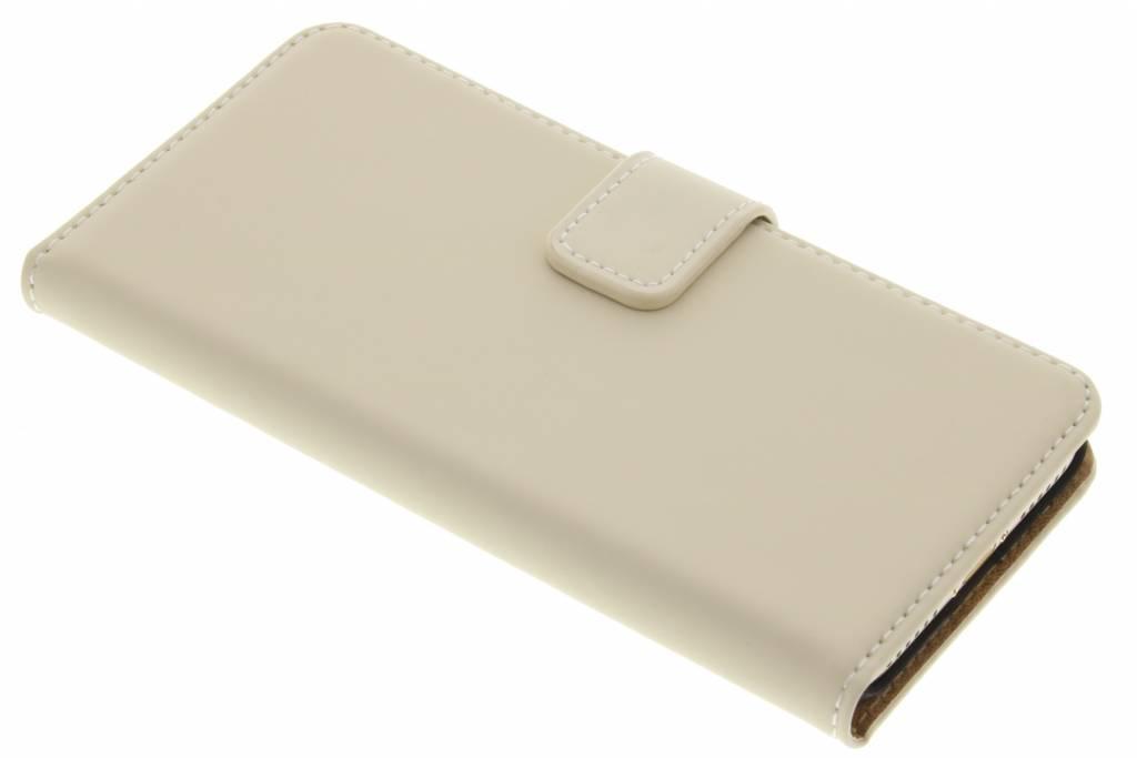 Selencia Luxe Book Case voor de iPhone 7 - Gebroken wit