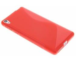 Rood S-line TPU hoesje Sony Xperia E5