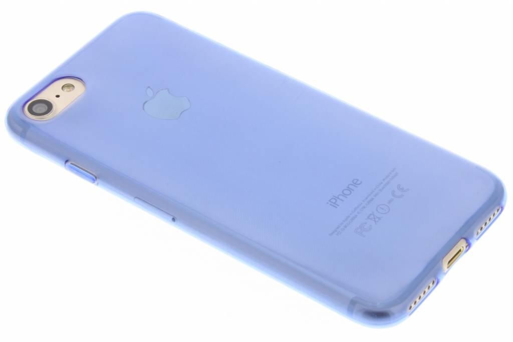 blauw ultra thin transparant TPU hoesje voor de iPhone 7