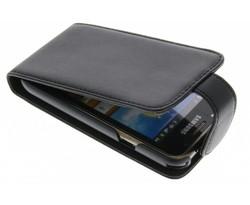 Zwart stijlvolle flipcase Samsung Galaxy S / Plus