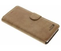 Khaki luxe suède booktype hoes iPhone 8 Plus / 7 Plus