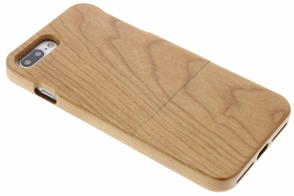 Bruin echt houten hardcase hoesje voor de iPhone 7 Plus