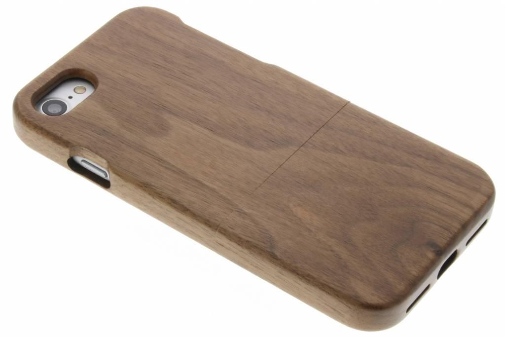 Donkerbruin echt houten hardcase hoesje voor de iPhone 7