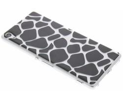 Dierenprint design Giraffe TPU hoesje Sony Xperia XA Ultra