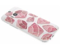 Diamonds design TPU hoesje HTC One M8 / M8s
