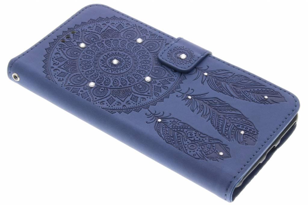 Donkerblauwe bohemian booktype hoes voor de iPhone 7 Plus