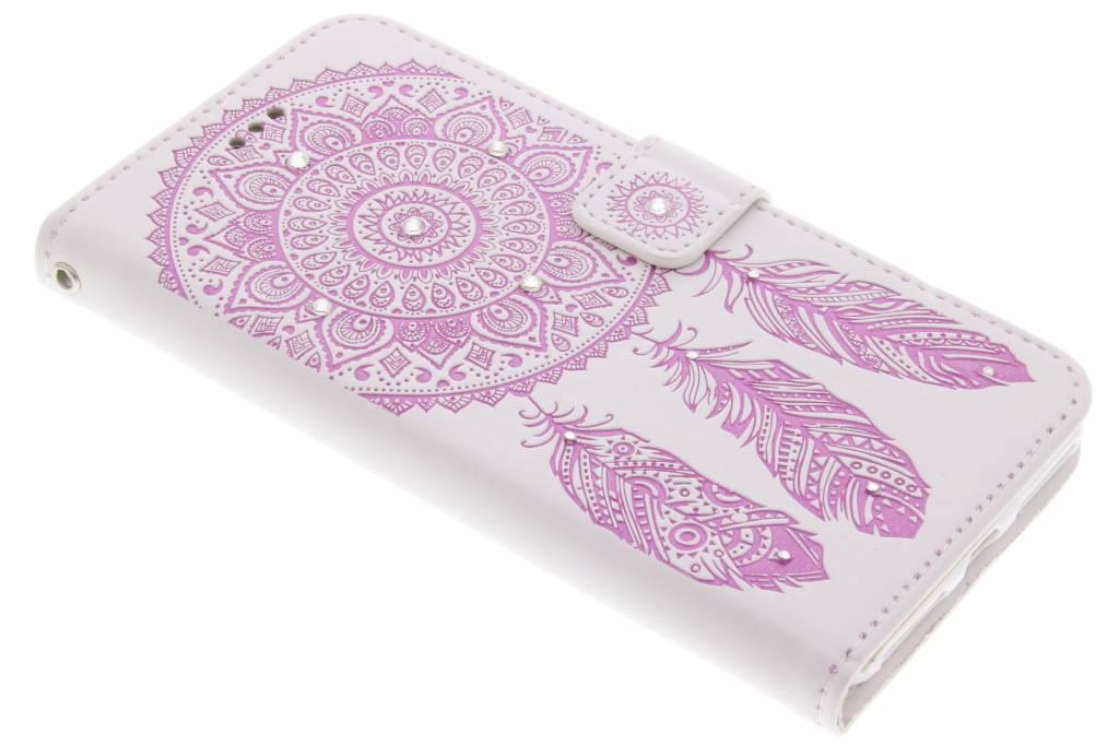 Roze bohemian booktype hoes voor de iPhone 7 Plus