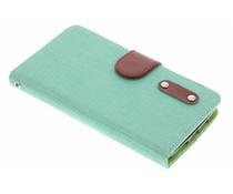 Groen linnen look TPU booktype hoes LG G2