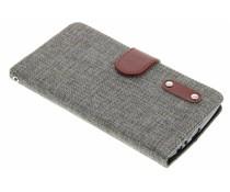 Lichtgrijs linnen look TPU booktype hoes LG G4