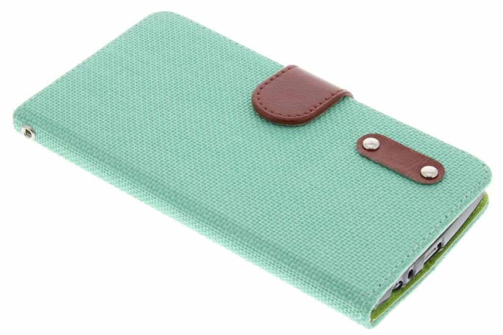 Groene linnen look TPU booktype hoes voor de LG G4