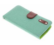 Groen linnen look TPU booktype hoes LG L Bello / L80 Plus