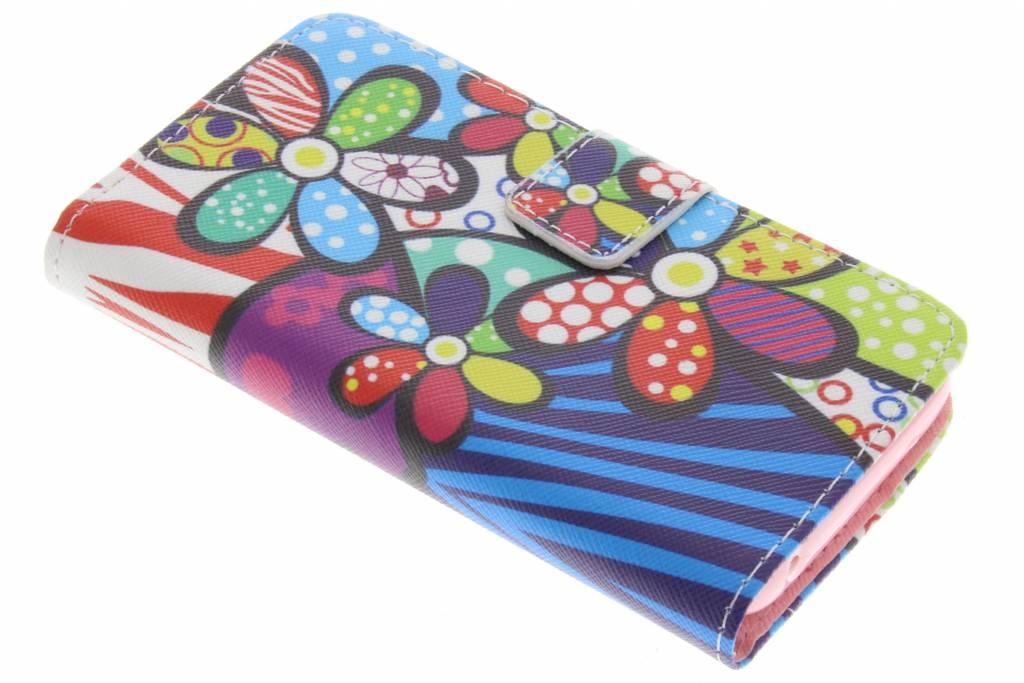 Bloemen design TPU booktype hoes voor de Huawei Y360