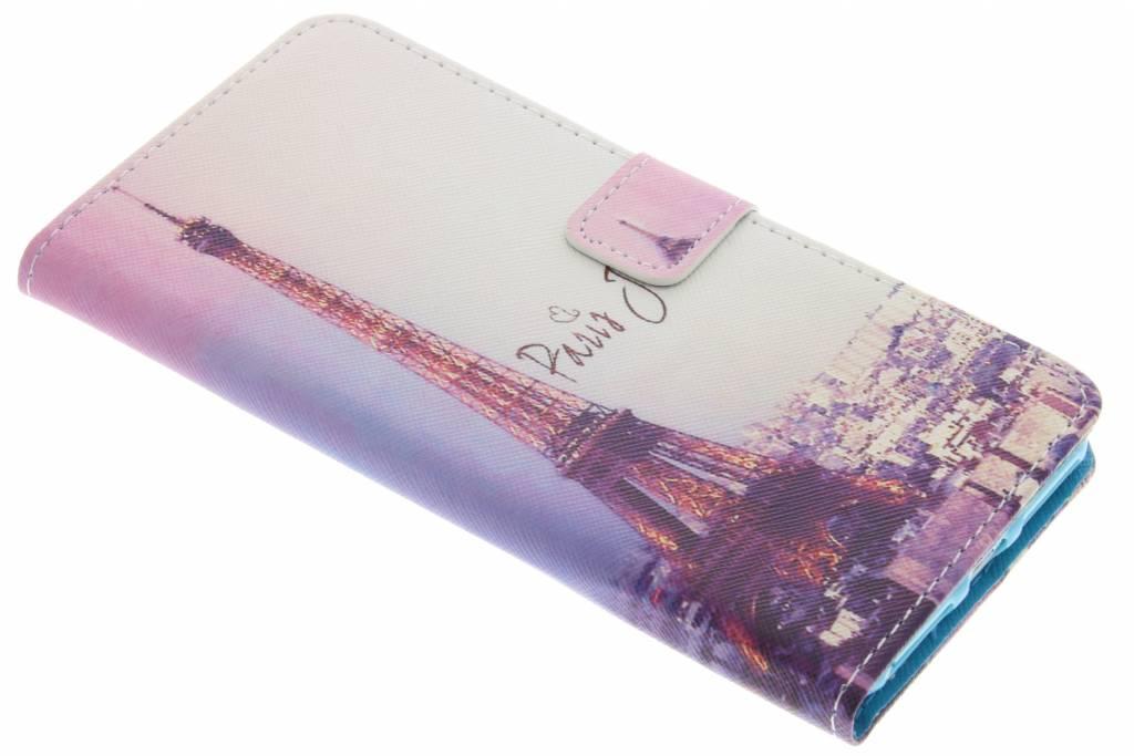 Parijs design TPU booktype hoes voor de iPhone 8 Plus / 7 Plus