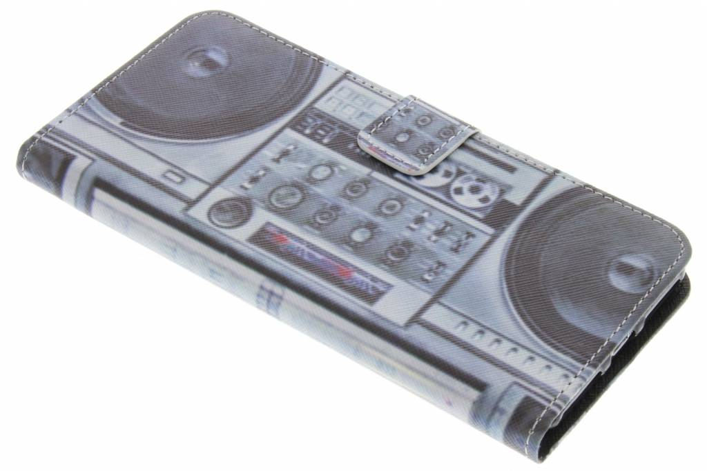 Radio design TPU booktype hoes voor de iPhone 8 Plus / 7 Plus
