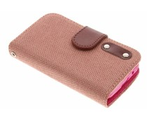 Linnen look TPU booktype hoes Samsung Galaxy Young 2
