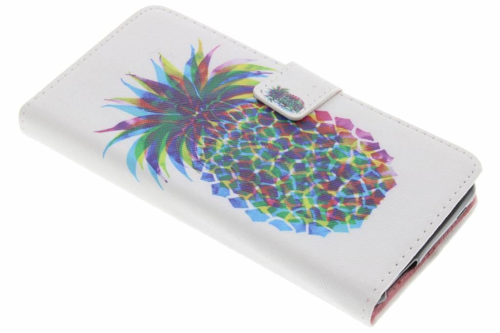 Ananas design TPU booktype hoes voor de Wiko U Feel