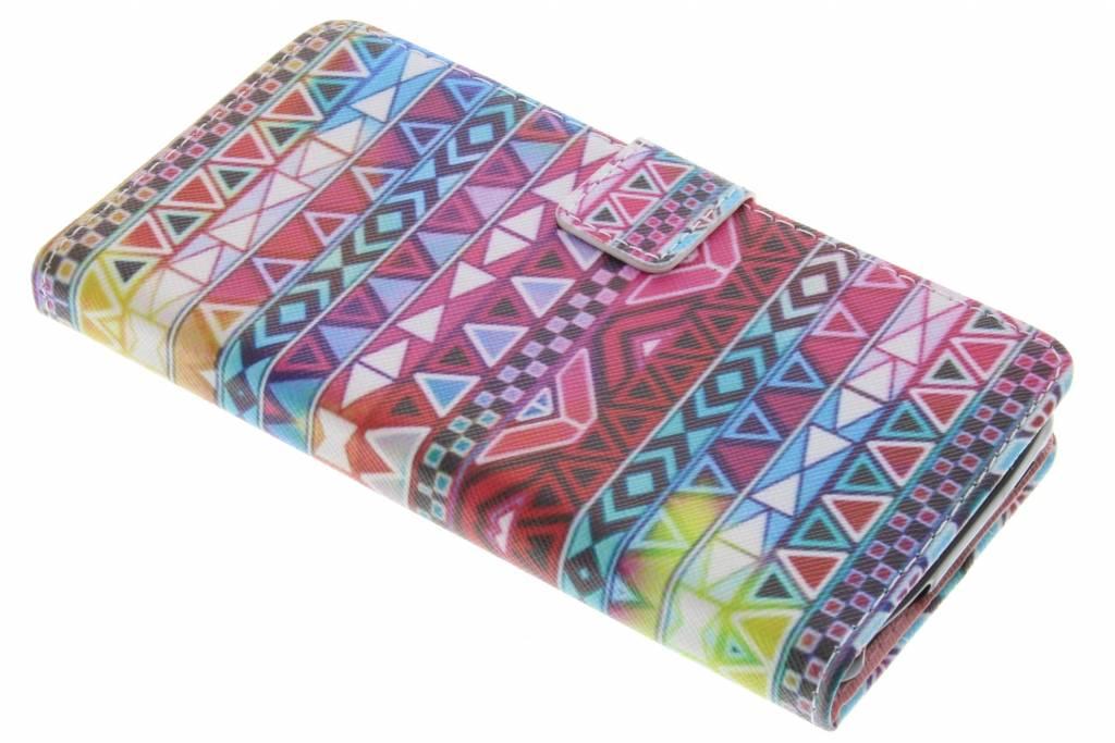 Aztec design TPU booktype hoes voor de Wiko U Feel