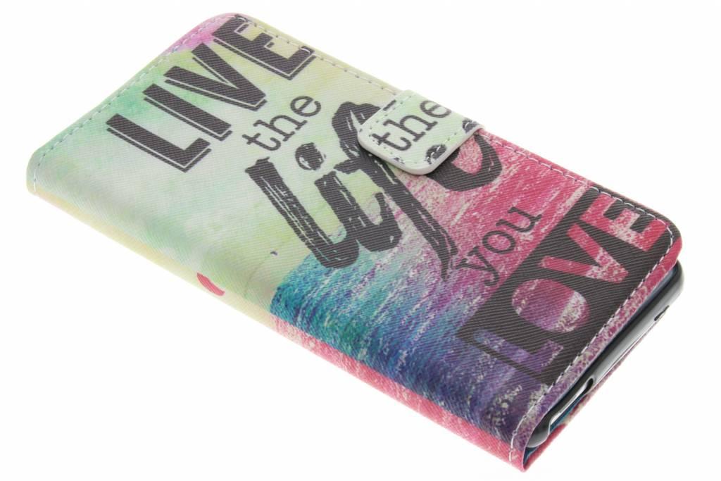 Live the life design TPU booktype hoes voor de Wiko U Feel