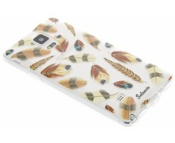 Selencia Feathers TPU hoesje Samsung Galaxy Note 4