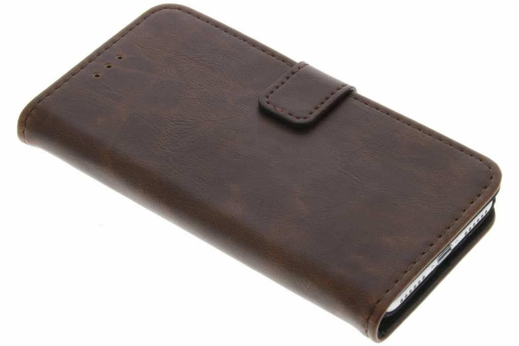Bruine luxe leder booktype hoes voor de iPhone 8 Plus / 7 Plus
