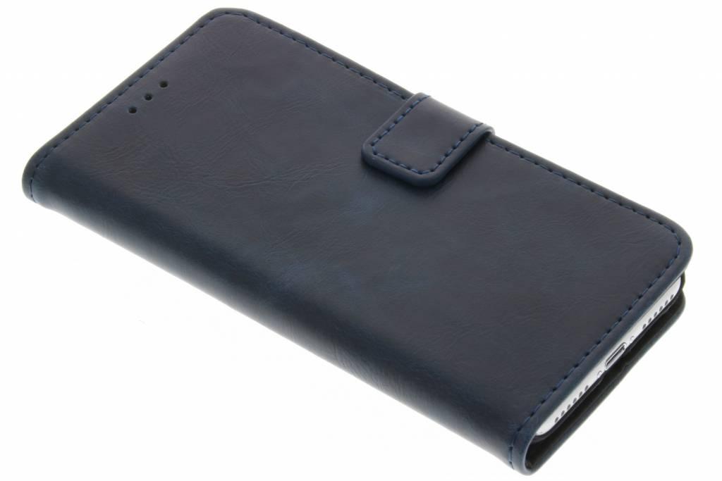 Blauwe luxe leder booktype hoes voor de iPhone 8 Plus / 7 Plus