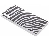 Dierenprint design Zebra TPU hoesje Sony Xperia XZ / XZs