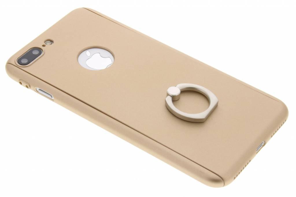 Gouden 360° protect case met ring voor de iPhone 8 Plus / 7 Plus
