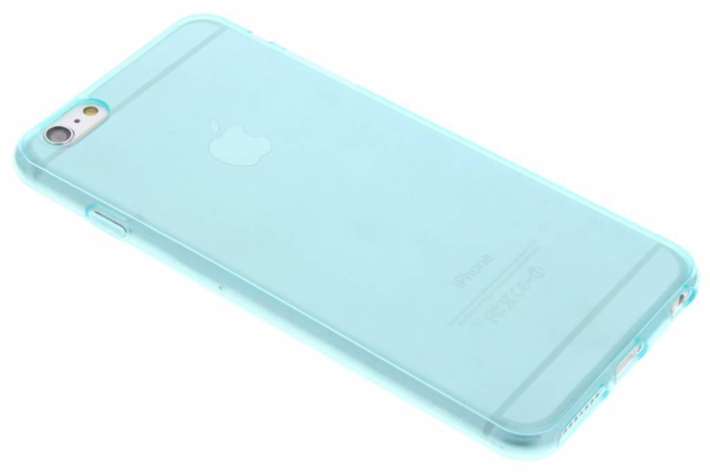 Turquoise transparante gel case voor de iPhone 6(s) Plus