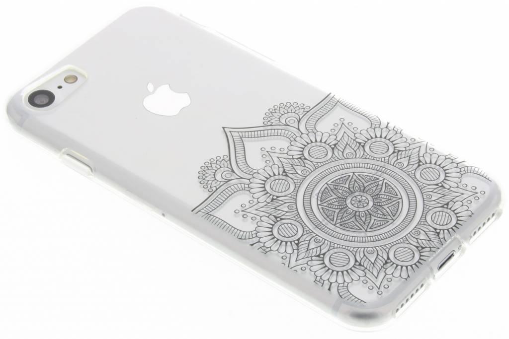 Zwart mandala design TPU hoesje voor de iPhone 8 / 7