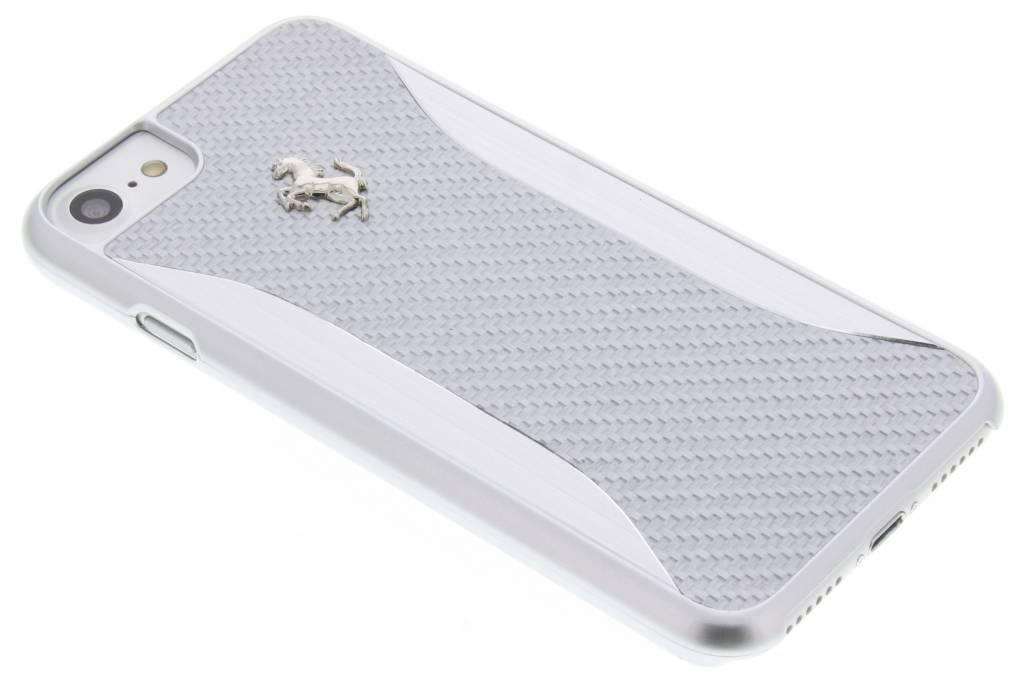 Ferrari Carbon Fiber Hard Case voor de iPhone 8 / 7 - Zilver