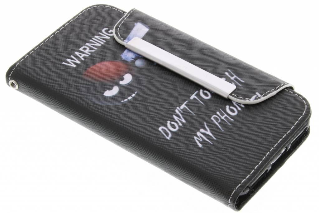Warning design TPU Wallet Case voor de iPhone 7