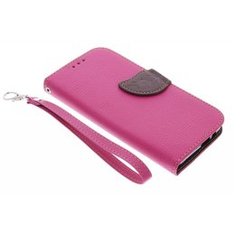 Fuchsia Feuille Conception Booktype Case Tpu Pour Htc One M9 OEtq1R