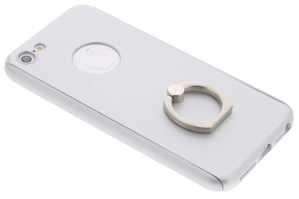 Zilveren 360º protect case met ring voor de iPhone 5 / 5s / SE