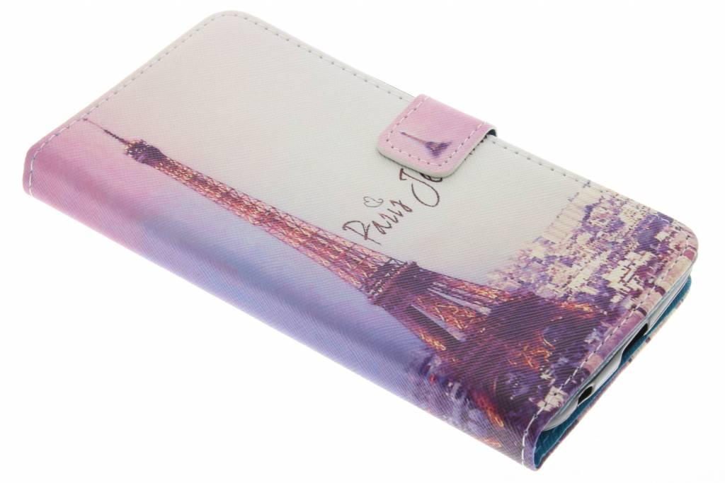 Eiffeltoren design TPU booktype hoes voor de Acer Liquid Plus
