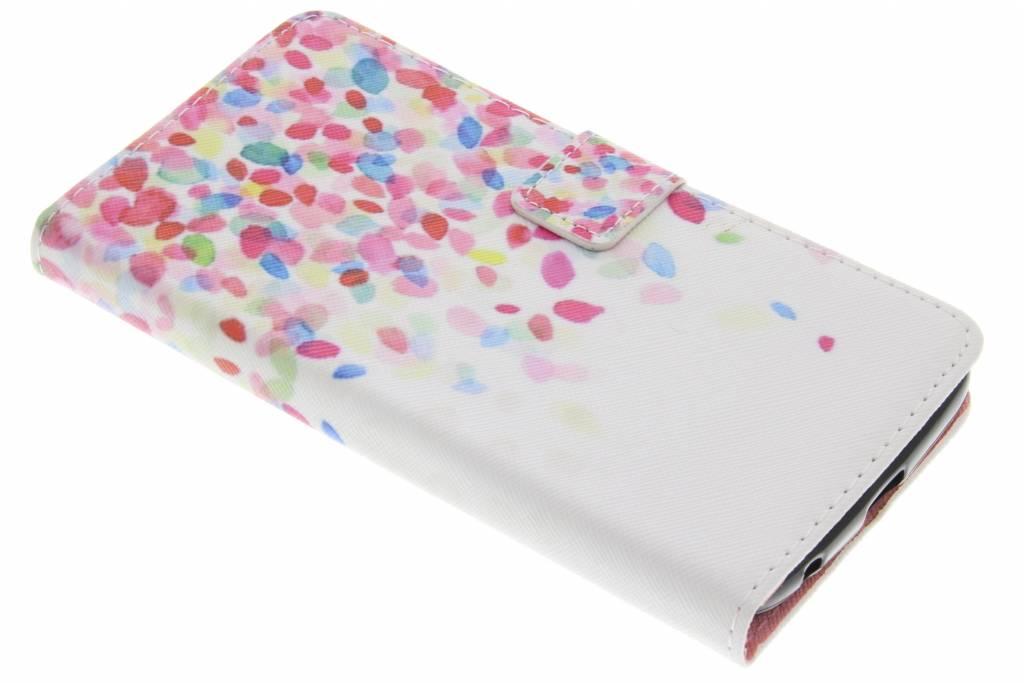 Confetti design TPU booktype hoes voor de Acer Liquid Zest Plus