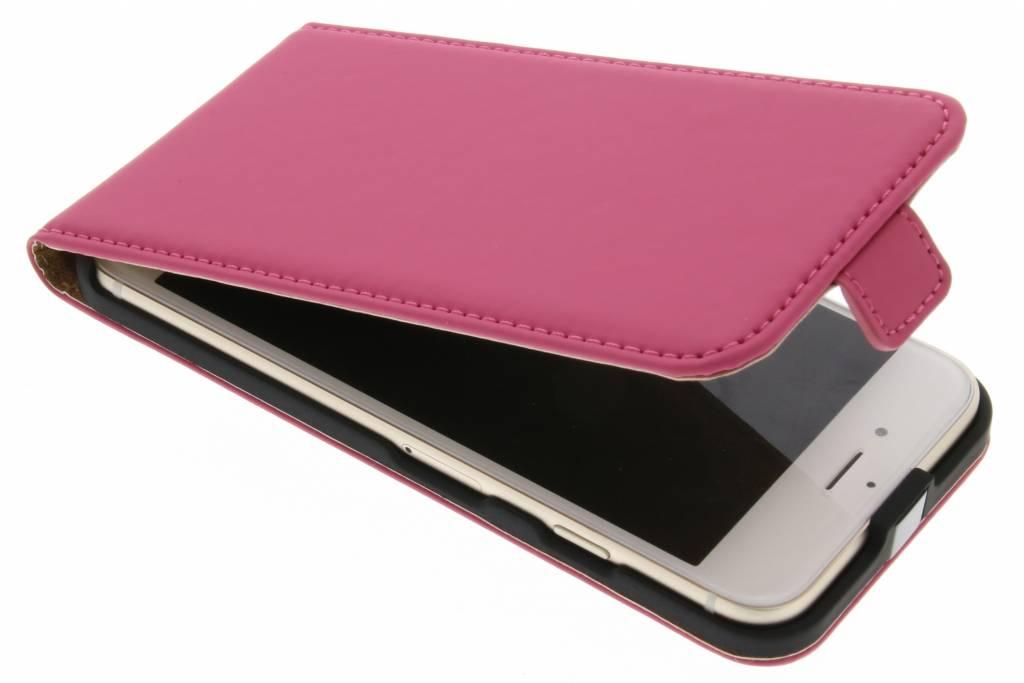 Selencia Luxe Flipcase voor de iPhone 8 / 7 - Fuchsia
