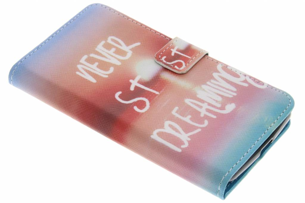 Never stop dreaming design TPU booktype hoes voor de Acer Liquid Zest (4G)