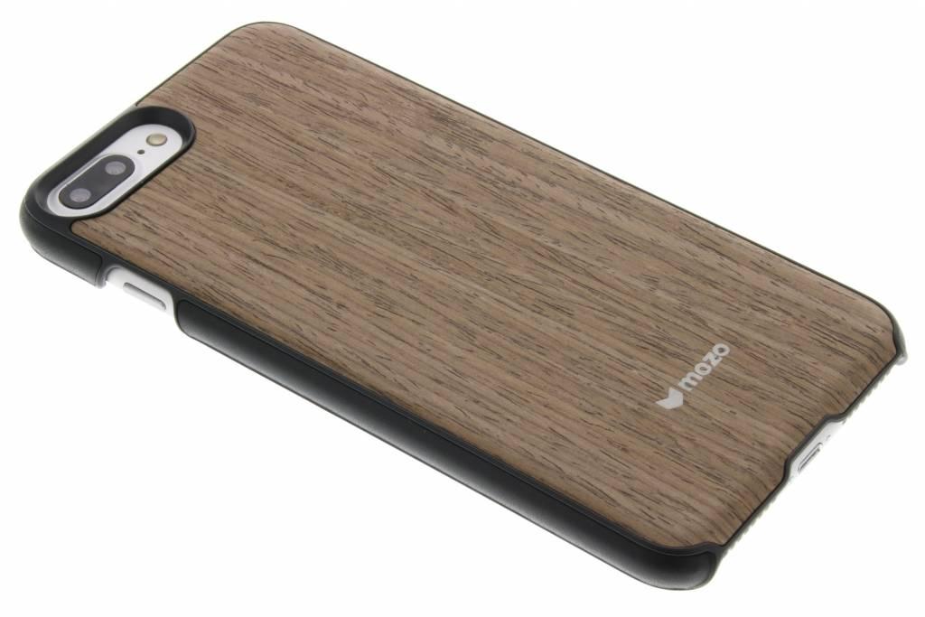 Mozo Wood Back Cover voor de iPhone 7 Plus - Black Walnut