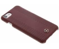 Mercedes-Benz Geperforeerde lederen hardcase iPhone 7 - Rood