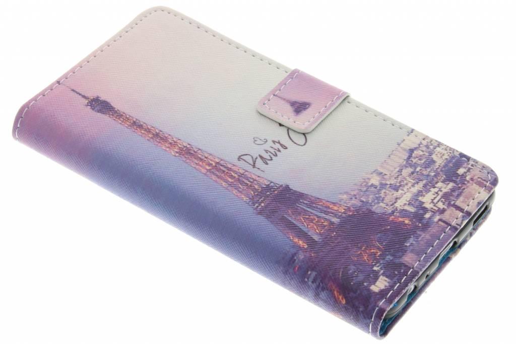 Parijs design TPU booktype hoes voor de Motorola Moto Z