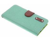 Groen linnen look TPU booktype hoes Huawei P8