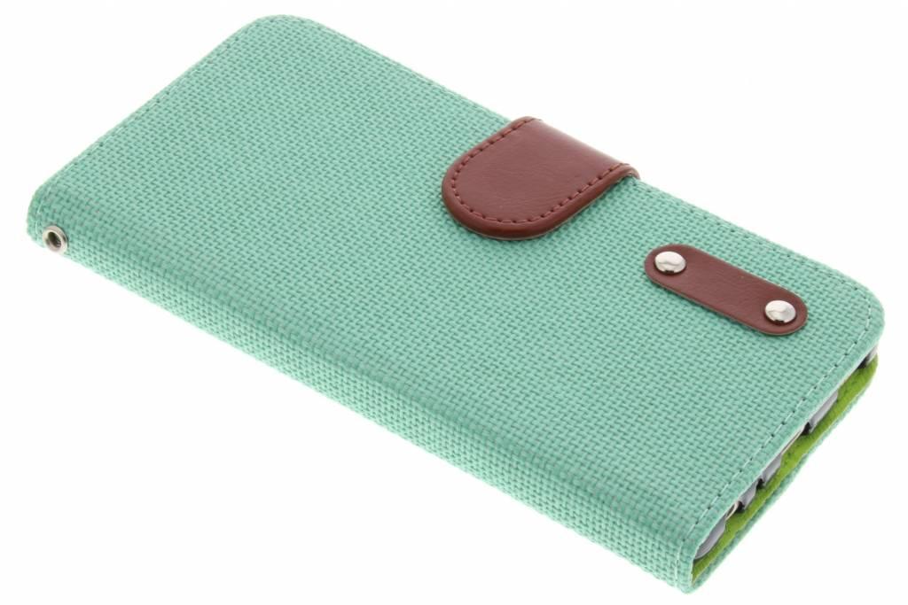 Groene linnen look TPU booktype hoes voor de Huawei P9