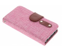 Linnen look TPU booktype hoes iPhone 4 / 4s