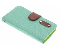 Groen linnen look TPU booktype hoes LG L70 / L65