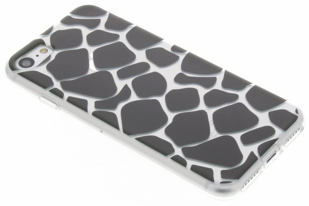 Zwart dierenprint design Giraffe TPU hoesje voor de iPhone 8 / 7
