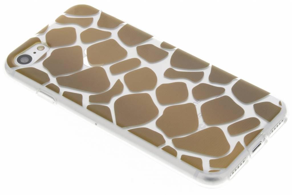 Bruin dierenprint design Giraffe TPU hoesje voor de iPhone 7