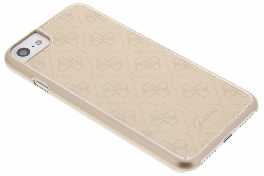 Guess Aluminium Plate Hard Case voor de iPhone 7 - Goud