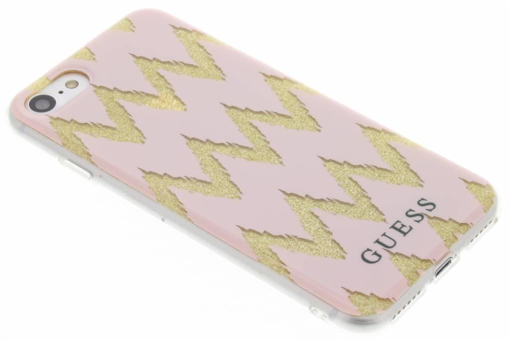 Guess Chevron Gel Case voor de iPhone 7 - Roze