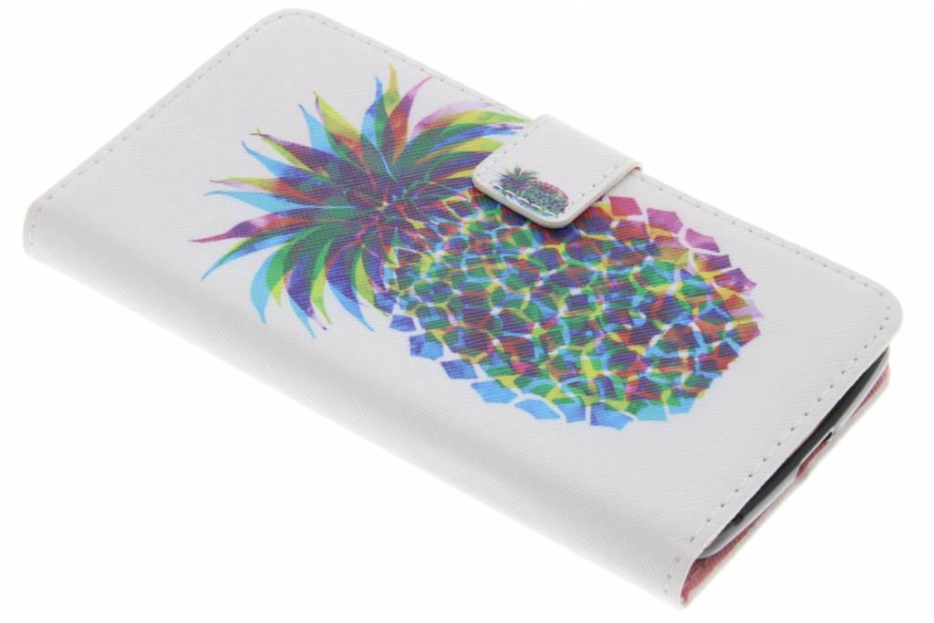 Ananas design TPU booktype hoes voor de Acer Liquid Zest (4G)